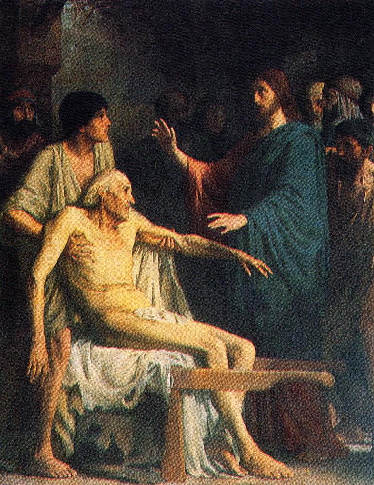 *Donne-nous notre Pain de ce jour (Vie) : Parole de DIEU *, *L'Évangile et le Livre du Ciel* Lenoir_Jesus_guerit_le_paralytique_1889